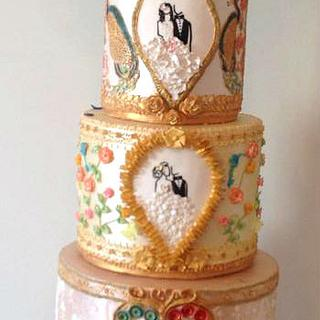 Royal Gold Wedding Cake