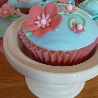 Pretty Turquoise Cupcakes - 90th Birthday!