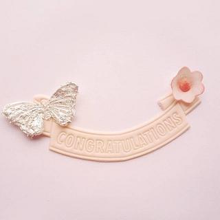Edible Silver leaf plaques - Cake by Heena Sagani
