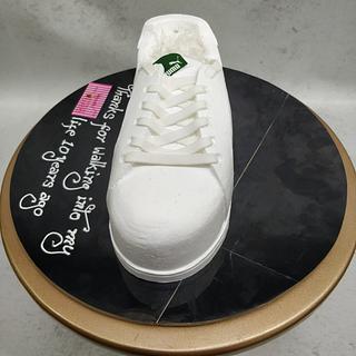 3D shoe in cream