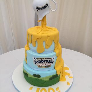 Centenary cake for the Duke & Duchess of Cornwall