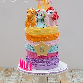 My Little Ponies Birthday Cake