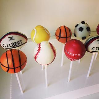 Sports ball cake pop set