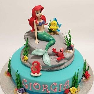 Ariel, la sirenetta...scultura in pasta di zucchero