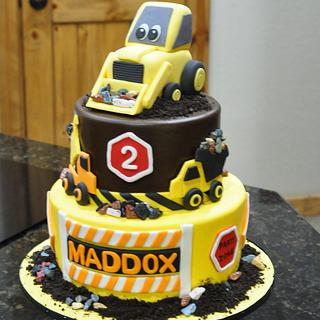 Construction Cake With Bulldozer - Cake by Cakes For Fun