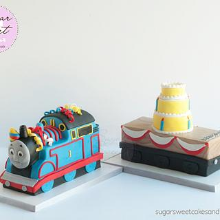 Thomas with Birthday Trailer Cake