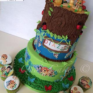 Tree Fu Tom / Raa Raa the noisy lion  - Cake by Que's Cakes
