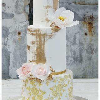 Golden Dream Wedding Cake