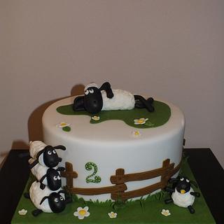 cake whith Shaun