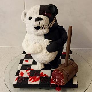 Monokuma cake  - Cake by Jewels Cakes