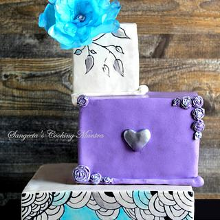 Engagement cake - Fancy Fantasy