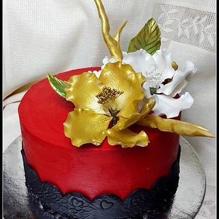 Coloured ganache! - Cake by Maaria