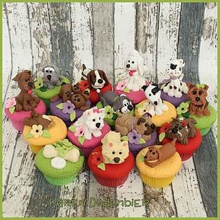 Doggie cupcakes - Cake by Karen Dodenbier