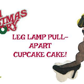 A CHRISTMAS STORY LEG LAMP CUPCAKE CAKE!