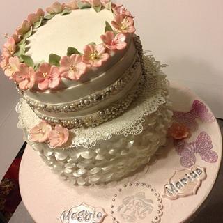 Blossoms Wedding Cake