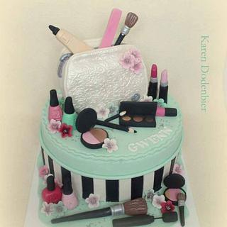Make Up cake - Cake by Karen Dodenbier