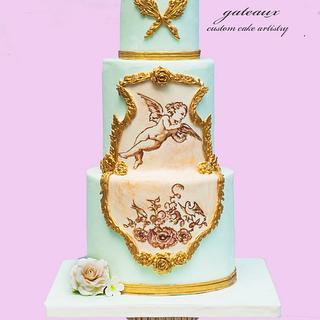 Rococo Cupid cake - Cake by Yvonne Janowski