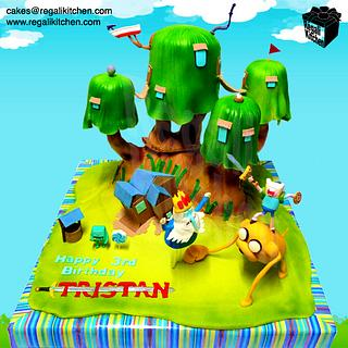 Adventure Time Tree Fort Cake