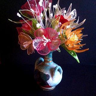 Gelatin bouquet - Cake by Ditsan