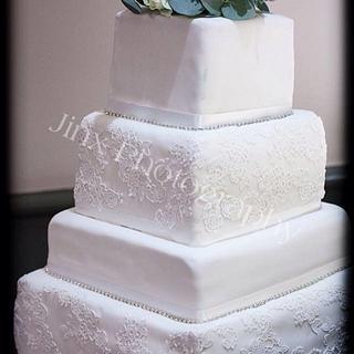 Lace Wedding Cake - Cake by Kelly Castledine - Kelly's Cakes & Tasty Bakes