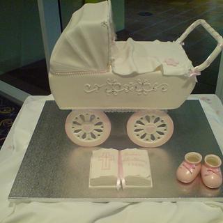 Pram Cake - Cake by Paul Delaney of Delaneys cakes