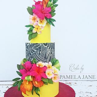 Hawaiian Summer Florals - Cake by Pamela Jane