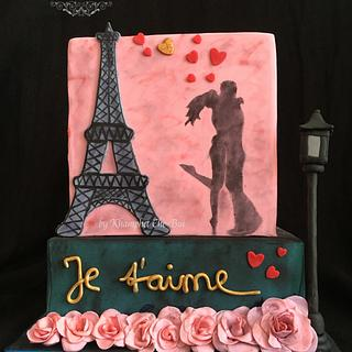 Love Romance in Paris @CPC Valentine's Day 2017 Collaboration  - Cake by Sweet Side of Cakes by Khamphet