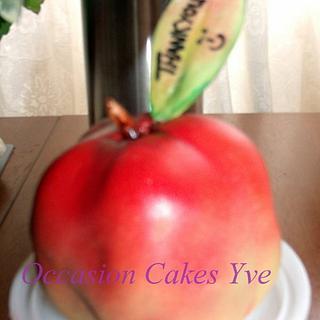Give the teacher an apple ! - Cake by Yve mcClean