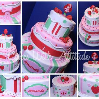 Strawberry Shortcake Cake - Cake by Viviana & Guelcys
