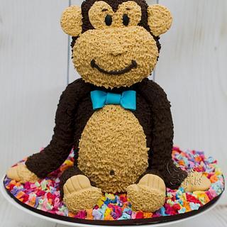 Funky monkey.. - Cake by Hima bindu