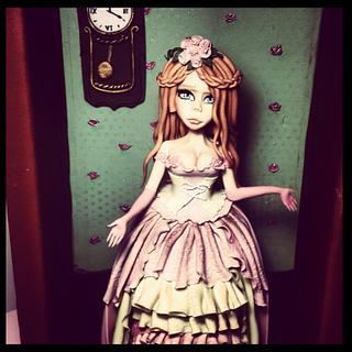Porcelain dolls figure make fondant