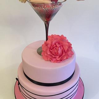 Martini girl cake