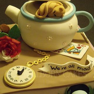 Alice in Wonderland 21st Birthday cake