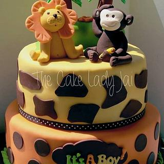 Funfari (Safari) baby shower  - Cake by Jai Mobley