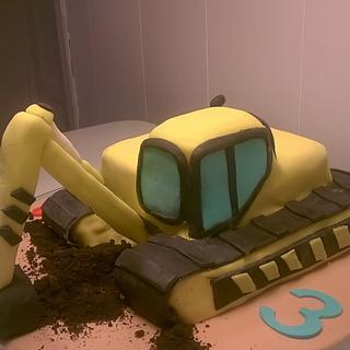 excavator cake - Cake by Maria Olsen