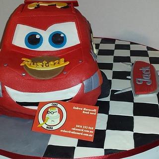 Lightning McQueen - Cake by CakeNerdOz