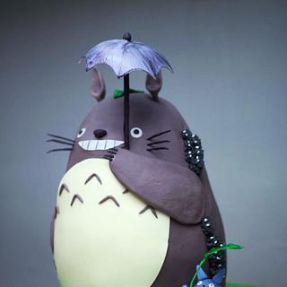 Totoro cake (tonari no totoro)