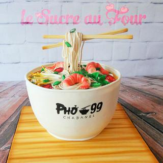 Pho soup cake