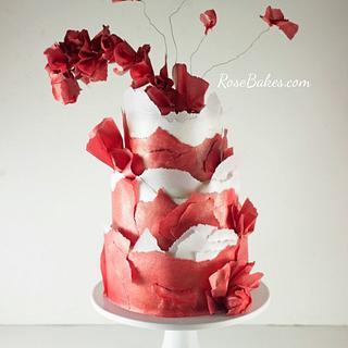Avant Garde Cake: A Red Dress