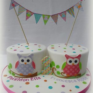 Pleasant Birthday Cakes For Twins 3 Cakes Cakesdecor Funny Birthday Cards Online Unhofree Goldxyz