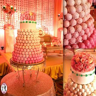 Indian cake-pop wedding cake