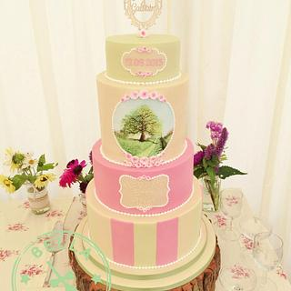 Oak tree wedding cake (For the new Mr & Mrs Ruby - my brother and his wife)