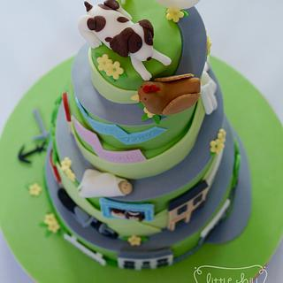 'Road of Life to 60' Spiral Cake