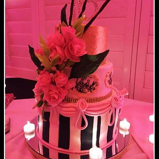 Sweet 16 Parisian cake