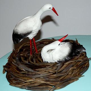 stork nest cake