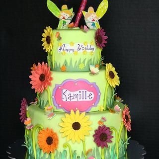 Fairy - Garden Theme Cake