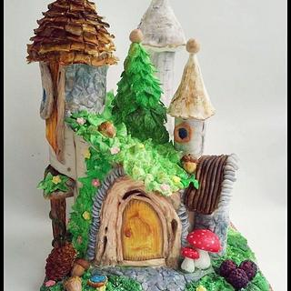 Fairy house  - Cake by Time for Tiffin