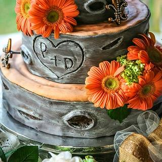 Tree wedding cake