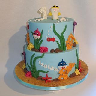 Baby Shark cake - Cake by Mandy