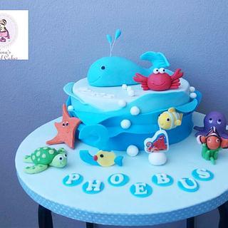 Under the sea cake  - Cake by elenasartofcakes